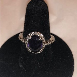 Purple stone cocktail ring